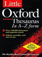 The Little Oxford Thesaurus